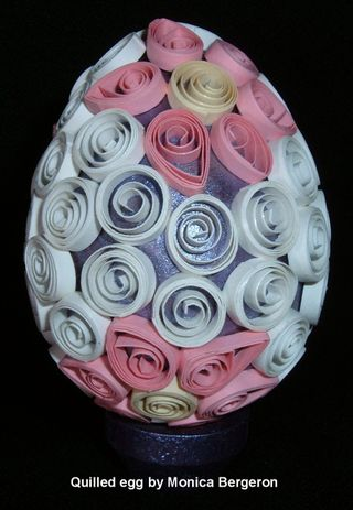 Quilled egg small