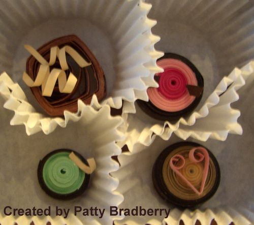Chocolate paper quilling class 014