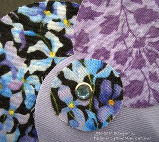 Fabric circles and flowers 013