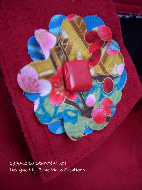 Fabric circles and flowers 061