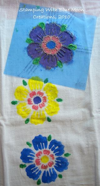 Stenciled tea towels 009