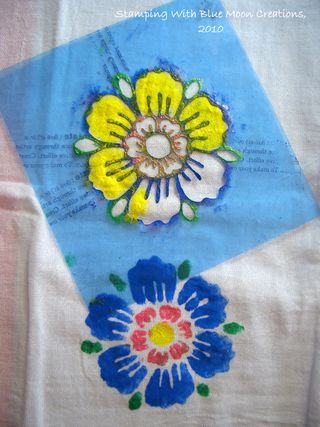Stenciled tea towels 004
