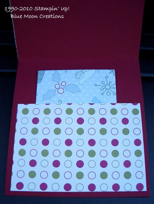 Christmas Box gift card holder 006