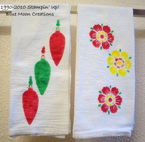 Stenciled tea towels 043