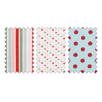 Candy Cane Christmas Designer Fabric