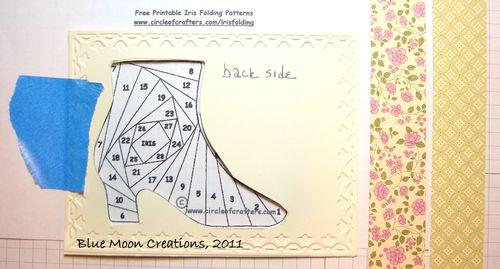 Iris folded shoe 022
