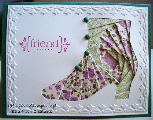 Iris folded shoe 047