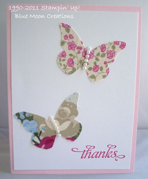 Fabric butterfly 009