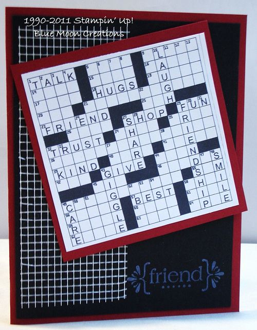 Friend Crossword puzzle 001