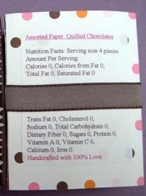 Quilled Chocolates 014 label