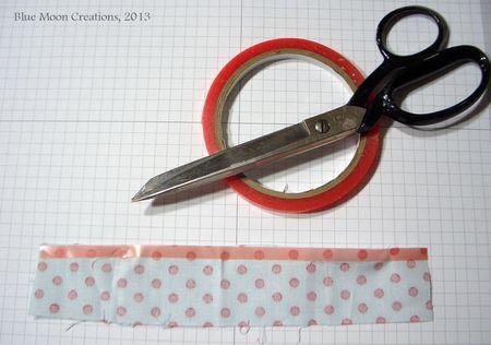 Fabric Strip Flower 004