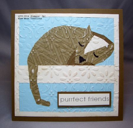 Paper Pieced Cat 002