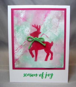 Stenciled Santa's Sleigh Reindeer