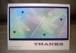 Emboss Resist Technique, Dragonfly Dreams