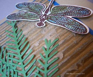 Recycled Cardboard Dragonfly Dreams close up