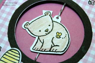 A Little Wild Honey Bear Spinner Card Close Up