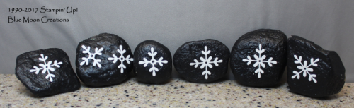 Swirly Snowflakes Painted Rocks