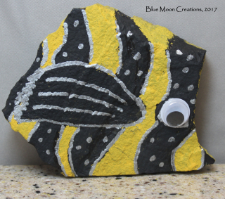 Angel Fish Painted Rock