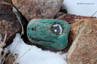 Green dino rock