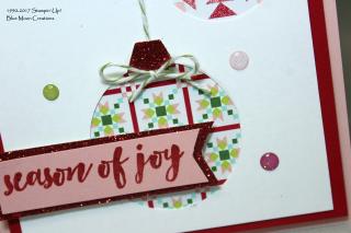 Christmas Quilt Ornaments closeup