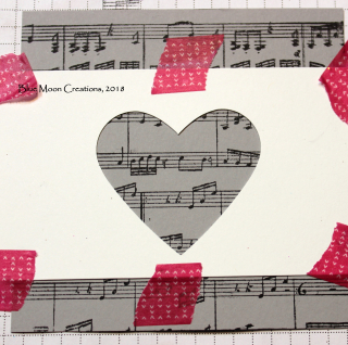 Embossing paste heart stencil