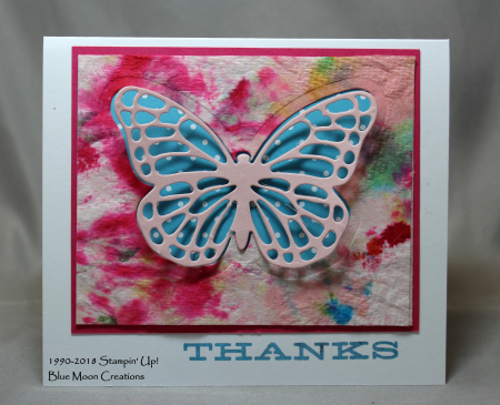 Paper Towel Bold Butterfly Stencil