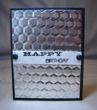 Double Hexagon Embossing Folder 006