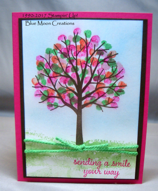 stamping with pencil eraser sheltering tree