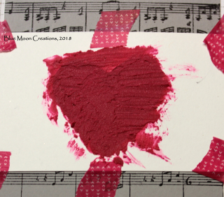 Heart with embossing paste