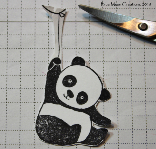 Party Panda Message in a Bottle fussy cut