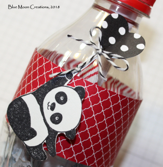 Party Panda Message in a Bottle closeup