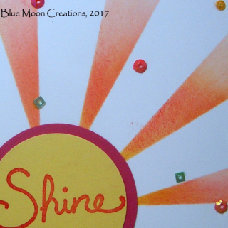 Stenciled Sunburst Card closeup