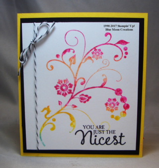 Flowering Flourishes Baby Wipe Card