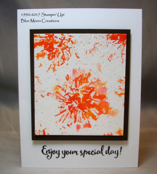 Watercolor Stamping using Flowers