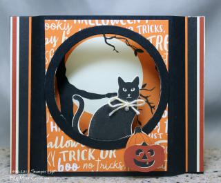 Spooky Cat Diorama Card
