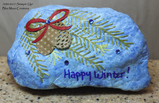 Pretty Pines Painted Rock