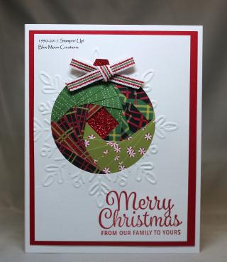 Iris Folded Christmas Ornament