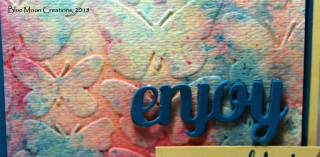 Fluttering Embossing Folder close up