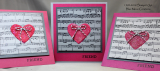 Embossing Paste trio of hearts