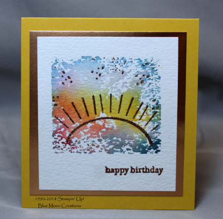 Pocketful of Sunshine acrylic block background