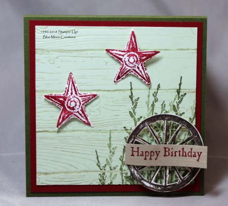 Country Road Happy Birthday - Stamping With Blue Moon Creations