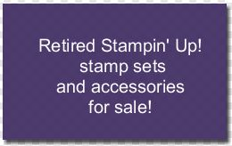 Retired stamp sets for sale for blog