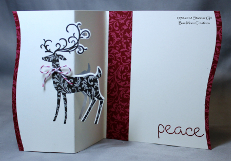 Dashing Deer Partial Die Cut Card