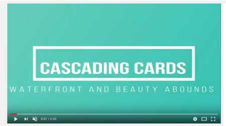 Cascading Cards You Tube