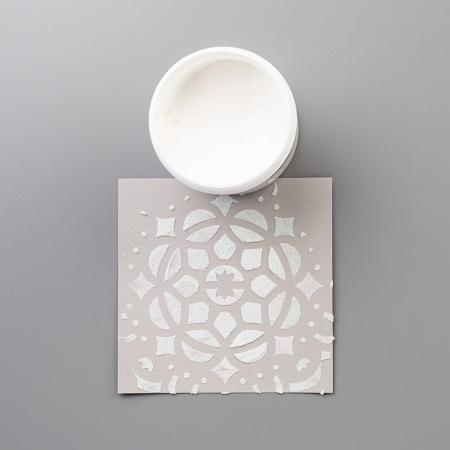 Shimmer embossing paste