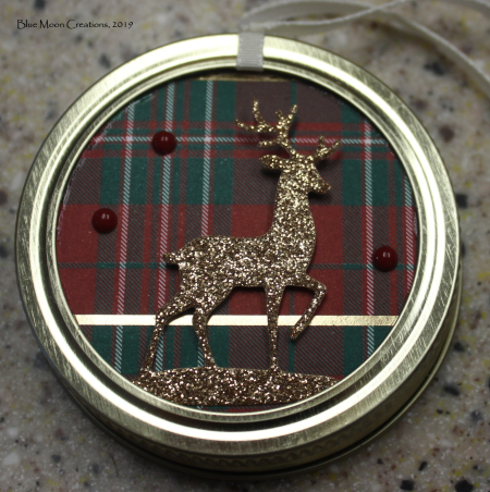 Deer mason jar ornament front