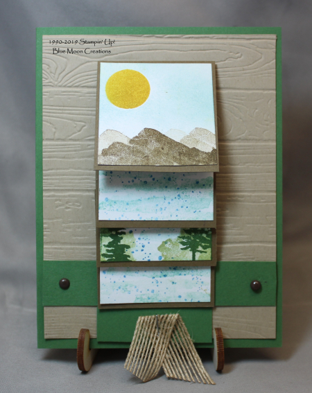 Waterfront cascading card