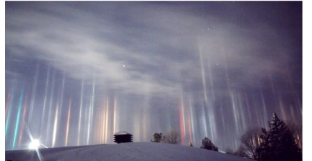 Light pillars canada
