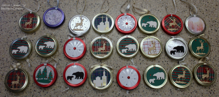 Mason jar ornaments 1