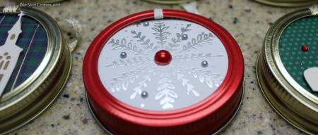 Mason jar snowflake